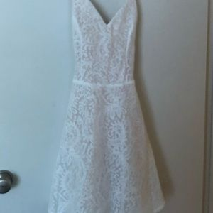 White lace strappy dress